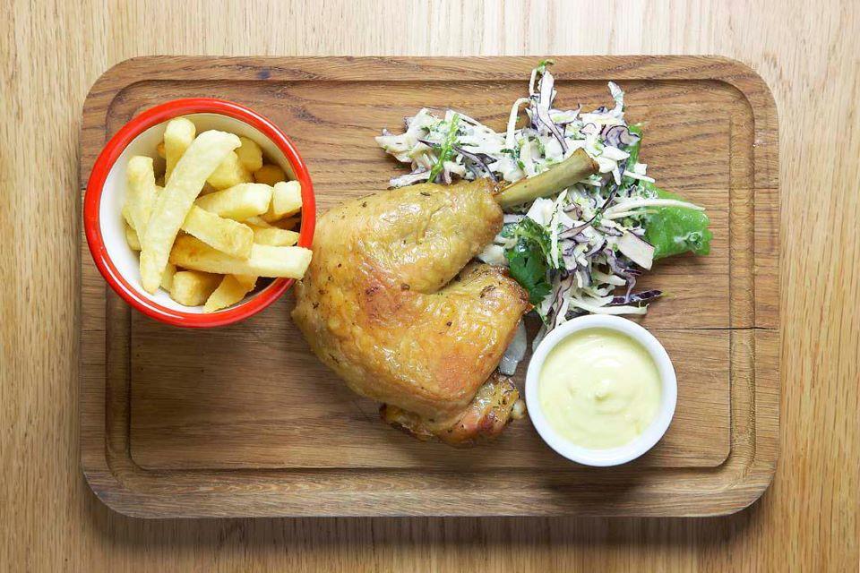 Roast chicken dinner. Photo: Canteen