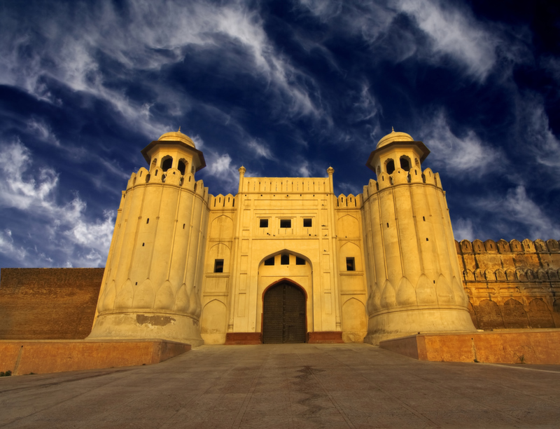 The beautiful Lahore Fort in Pakistan